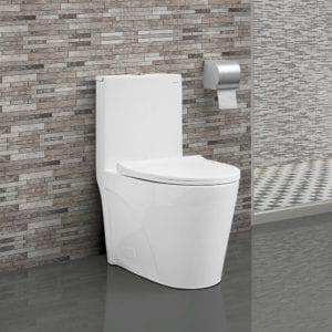 White Swiss Madison dual flush toilets