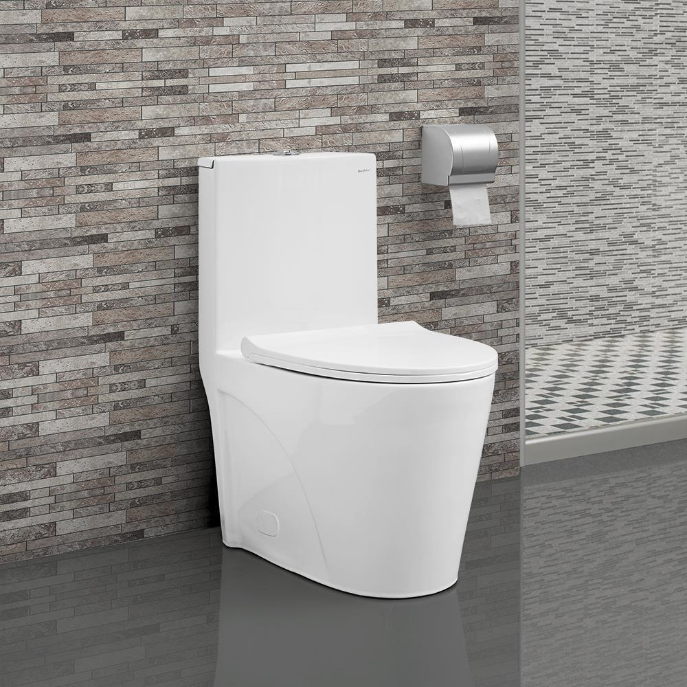 White Swiss Madison dual flush toilets