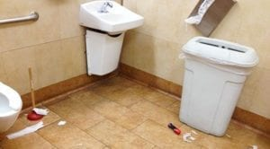 filthy commercial bathroom